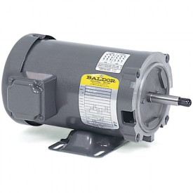 Baldor Motor JM3115, 1HP, 3450RPM, 3PH, 60HZ, 56J, 3420M, OPEN, F1, N