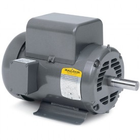Baldor Motor L1408T, 3HP, 1725RPM, 1PH, 60HZ, 184T, 3634LC, OPEN, F1