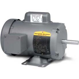 Baldor Single Phase Motor, L3509, 1 HP, 115/230 Volts, 3450 RPM, TEFC, 56/56H Frame