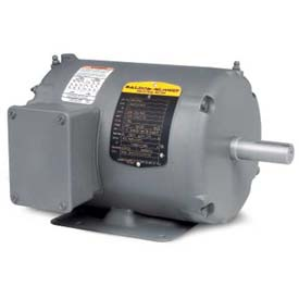 Baldor General Purpose Motor, 230/460 V, 0.5 HP, 1740 RPM, 3 PH, 56, TENV