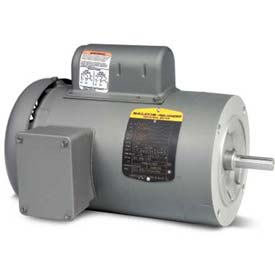 Baldor Single Phase Motor, VL3504, 0.5 HP, 115/230 Volts, 1725 RPM, TEFC, 56C Frame