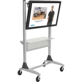 Balt® Platinum Series Two-post Large LCD/Plasma Monitor Cart with Shelf