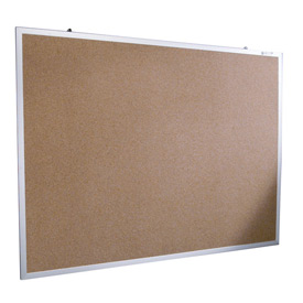 "Balt® Natural Cork Tackboard - Aluminum Trim - 48""W x 33-3/4""H"