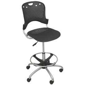 Balt Circulation Stool - Polypropelene - Black