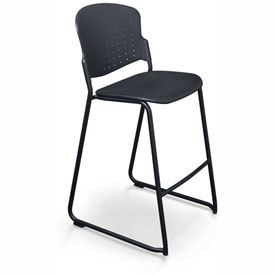 Balt Stacking Stool - Plastic - Black