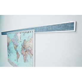 "Balt® Tackboard Display Rails - 120""W x 3""H"