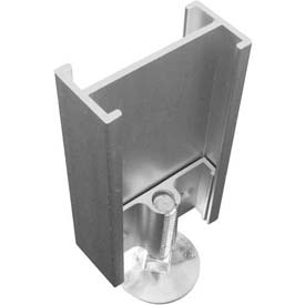 2-Way Straight Connector with Adj. Leg For Office Partition Panels