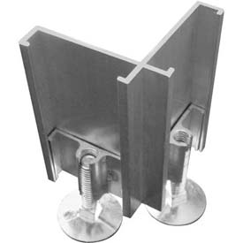 2-Way Right Connector with Adj. Leg For Office Partition Panels