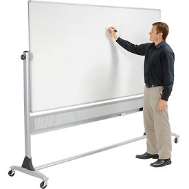 "Balt® Platinum Reversible 96""W x 48""H Double Sided Porcelain Steel Markerboard"