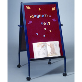 Balt® Magnetic Flannel Easel on Wheels