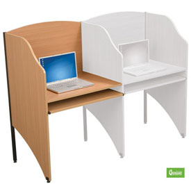 Balt® 89869 Deluxe Add-a-Carrel - Teak