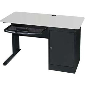 LX 48 Workstation with Locking CPU Holder Gray