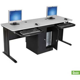 LX 72 Workstation with Locking CPU Holder Gray