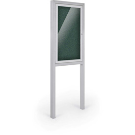 "Balt® All-Weather Herald Outdoor Enclosed Cabinet W/Posts - Single Door - 36""W x 48""H Green"