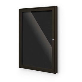 "Balt® Outdoor Enclosed Letter Board Cabinet with 1 Hinged Door 36""W x 36""H Coffee"
