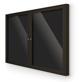 """Balt® Outdoor Enclosed Letter Board Cabinet with 2 Hinged Doors 48""""W x 36""""H Coffee"""