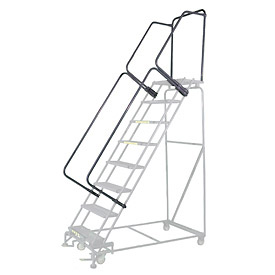 "45""H CAL-OSHA Handrail Kit for Stainless Steel Rolling Ladder - 6 to 9 Step"