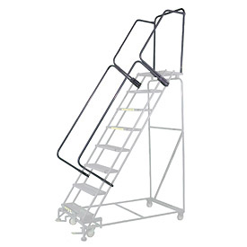 "46""H CAL-OSHA Handrail Kit for Stainless Steel Rolling Ladder - 10 to 12 Step"