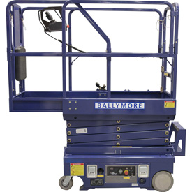 Ballymore Drivable Mini Scissor Lift 12' Platform 500 Lb. Capacity DMSL-12 by