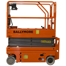 Ballymore Drivable Mini Scissor Lift 26' Platform, 500 Lb. Capacity DMSL-26 by