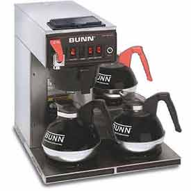 12 Cup Dual-Voltage Auto Coffee Brewer With 3 Warmers, CWTF-DV by