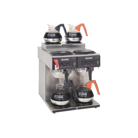 12 Cup Auto Coffee Brewer With 4 Warmers, CWTF 2/2 Twin by