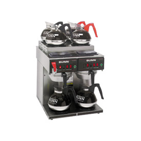 12 Cup Auto Coffee Brewer With 6 Warmers, CWTF 4/2 Twin by