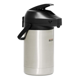"Bunn 32130.0100 - Airpot, 3 Liter, Stainless Steel Liner, Lever Action, Brew-Through, 14-1/4""H"