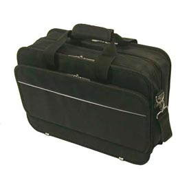 Bond Street Black Ballistic Long Wear Computer Briefcase by
