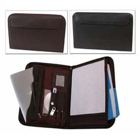 Bond Street Fine Leather Tablet - iPad Case with Writing Organizer, Black