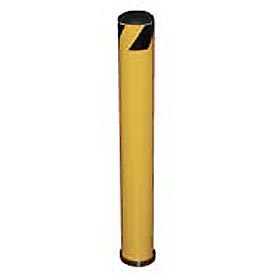 "Removable Bollard with 10""H Sleeve, Yellow, 48-3/4""H x 5-9/16"" Dia. Bollard"
