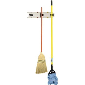 "Bobrick® 3 Prong Mop & Broom Holder 24""W - B223x24"