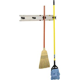 "Bobrick® 4 Prong Mop & Broom Holder 36""W - B223x36"
