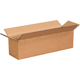 "Long Corrugated Boxes 13"" x 3"" x 3"" 200lb. Test/ECT-32 25 Pack"