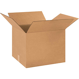 "Cardboard Corrugated Box 18"" x 16"" x 14"" 200lb. Test/ECT-32 - 25 Pack"