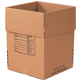 Tall Deluxe Packing Box 4.5 Cu. Ft. 200lb. Test/ECT-32 - 15 Pack