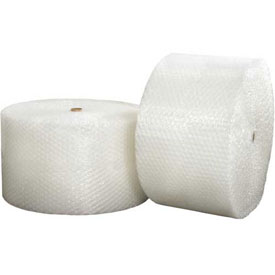 """Heavy Duty Bubble Rolls 24"""" x 250' x 1/2"""", Non-Perforated, Clear, 2/PACK"""