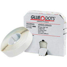"1/2"" Low Tack Glue Dots, Low Profile 4000 Dots Per Roll by"