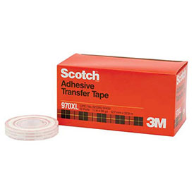 "3M Scotch 970XL Adhesive Transfer Tape Dispenser Rolls 1/2"" x 36 Yds. 1 Mil Clear Package Count 6 by"