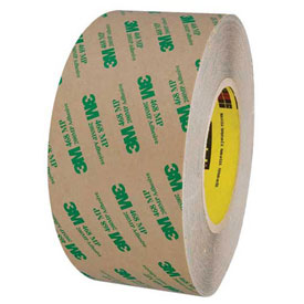 "3M 468MP Adhesive Transfer Tape Hand Rolls 3"" x 60 Yds. 5 Mil Clear by"