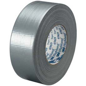 """3M™ Duct Tape 6969 2"""" x 60 Yds 12 Mil Silver - 3/PACK"""
