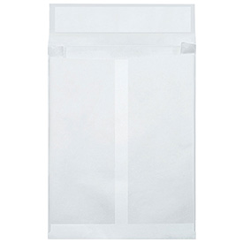 "10"" x 13"" x 1-1/2"" White Expandable Tyvek Envelopes 100 Pack by"