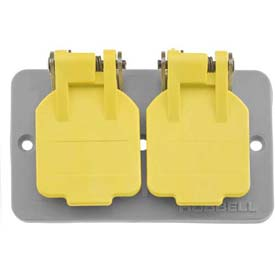 Bryant 3056BRY Outlet Box Lift Cover, Duplex Receptacle