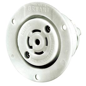 Bryant 40045ER TECHSPEC® Receptacle, 20A, 3ph 120/208V AC 400Hz, White