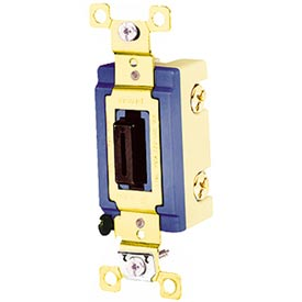 Bryant 4804L Industrial Grade Toggle Switch, Four Way, 15A, 120/277V AC, Locking