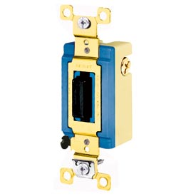 Bryant 4821L Toggle Switch, Single Pole, Double Throw, 15A, 120/277V AC, Locking