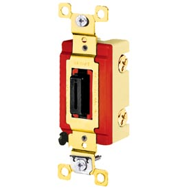 Bryant 4904L Industrial Grade Toggle Switch, Four Way, 20A, 120/277V AC, Locking