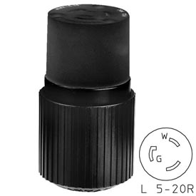 Bryant 70520NCB TECHSPEC® Connector, L5-20, 20A, 125V, Black