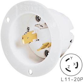 Bryant 71120MB TECHSPEC® Base, L11-20, 20A, 3ph 250V AC, White
