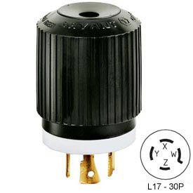 Bryant 71730NP TECHSPEC® Plug, L17-30, 30A, 3ph 600V AC, Black/White
